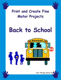 Print and Create Fine Motor Projects  Back to School | eBooks | Education