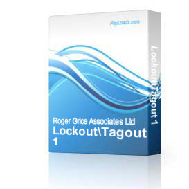 Lockout/Tagout 1