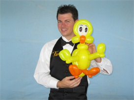 sitting tweety bird balloon character tutorial