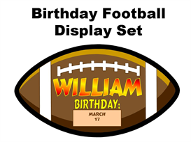 Birthday Football Display Set | Other Files | Documents and Forms