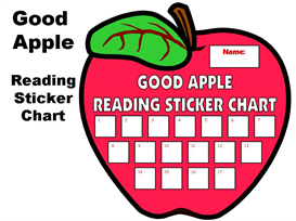 Good Apple Reading Sticker Chart Set | Other Files | Documents and Forms