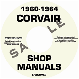 1960-1964  Corvair Shop Manuals | eBooks | Automotive