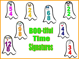 BOOtiful Time Signatures Bulletin Board Kit | Other Files | Patterns and Templates