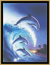 Riding The Wave - Cross Stitch Download | Crafting | Cross-Stitch | Other