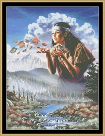Maiden Of The Wind - Cross Stitch Download   Crafting   Cross-Stitch   Other