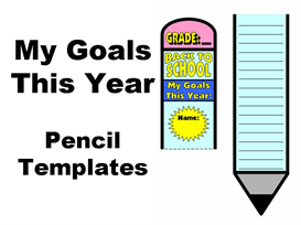 My Goals This Year: Pencil Writing Templates | Other Files | Documents and Forms
