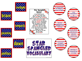 Star Spangled Vocabulary Bulletin Board Kit | Other Files | Patterns and Templates