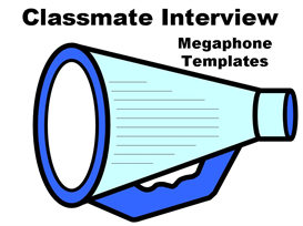 Classmate Interview Megaphone Set | Other Files | Documents and Forms