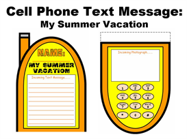 Cell Phone Text Message Templates:  My Summer Vacation | Other Files | Documents and Forms