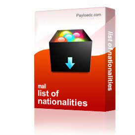 list of nationalities
