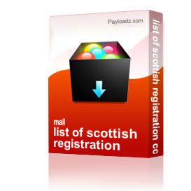 list of scottish registration counties