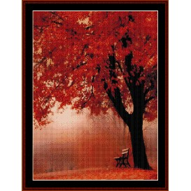 Forest in Autumn - Nature cross stitch pattern by Cross Stitch Collectibles | Crafting | Cross-Stitch | Wall Hangings