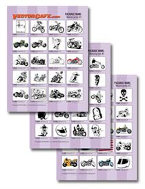 Motorcycles Vector Clip Art #1 | Other Files | Clip Art