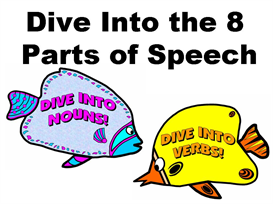 Dive Into the 8 Parts of Speech Bulletin Board Display | Other Files | Documents and Forms
