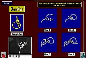 First Additional product image for - Learn to Tie Knots Digital Sailing Lesson App for Blackberry