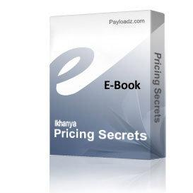 Pricing Secrets | Audio Books | Business and Money