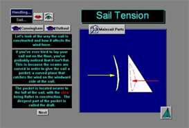 Sail Tension and Care Digital Sailing Lesson App for iTouch and iPhone | Software | Mobile