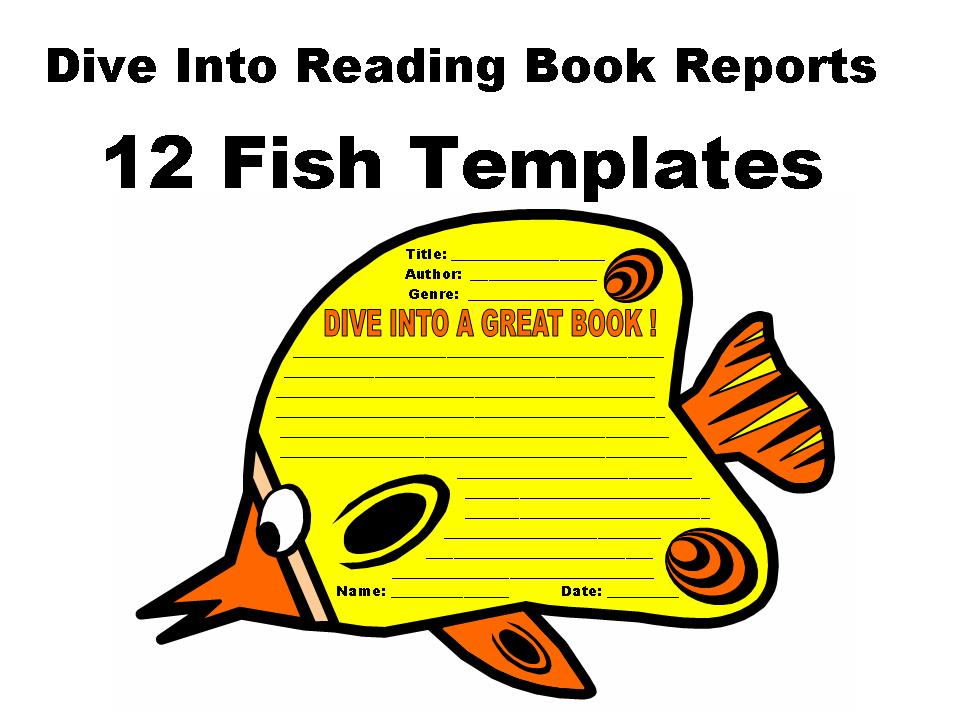 Dive into reading book reports 12 fish templates other for Your inner fish book