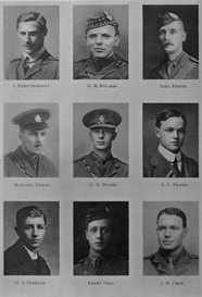 edinburgh university roll of honour 1914-1919 plate 27