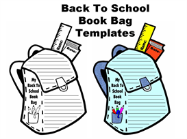 Book Bag Shaped Writing Templates | Other Files | Documents and Forms