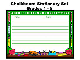 Chalkboard Writing Templates Back to School | Other Files | Documents and Forms