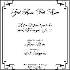 god knew your name sheet music