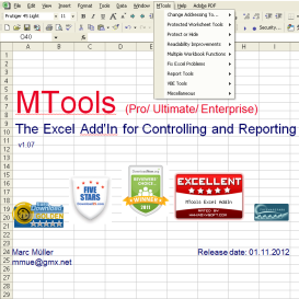 MTools Excel Addin | Software | Add-Ons and Plug-ins