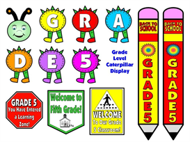 grade level (1-8) back to school pack