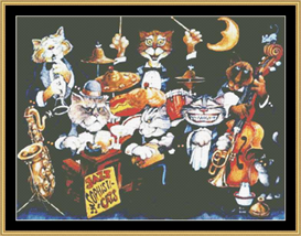 Jazz Sophisticates - Cross Stitch Pattern Download | Crafting | Cross-Stitch | Wall Hangings