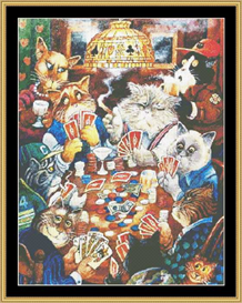 Poker Cats - Cross Stitch Download | Crafting | Cross-Stitch | Wall Hangings