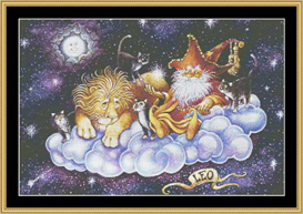 Leo - Cross Stitch Download | Crafting | Cross-Stitch | Wall Hangings