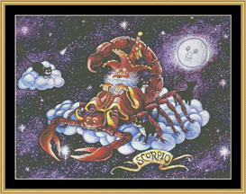 Scorpio - Cross Stitch Download | Crafting | Cross-Stitch | Wall Hangings