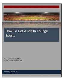 How To Get A Job In College Sports