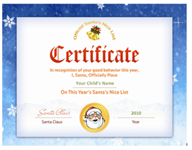 Santa's Nice List Certificate - Santa Seal | Other Files | Patterns and Templates