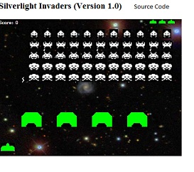 silverlight invaders source
