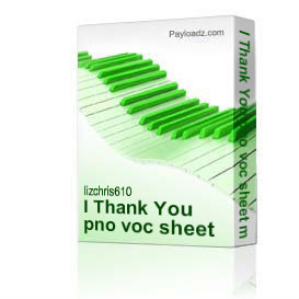 I Thank You pno voc sheet music | Music | Country