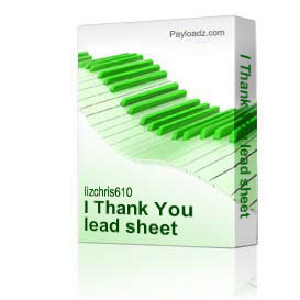 I Thank You lead sheet | Music | Country