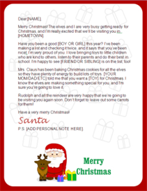Santa Letter - Claus and Reindeer | Other Files | Patterns and Templates