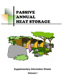 passive annual heat storage - supplementary information sheets - volume i