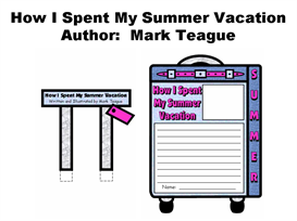 How I Spent My Summer Vacation Suitcase Templates (Mark Teague) | Other Files | Documents and Forms