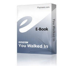 You Walked In | eBooks | Music