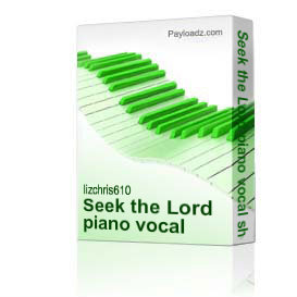 Seek the Lord piano vocal sheet music | Music | Gospel and Spiritual