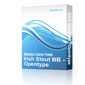 Irish Stout BB - Opentype | Software | Design
