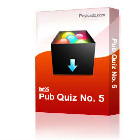 Pub Quiz No. 5 | Other Files | Documents and Forms
