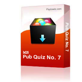 pub quiz no. 7