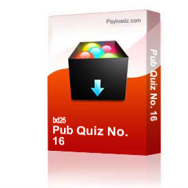 pub quiz no. 16