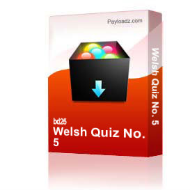 welsh quiz no. 5
