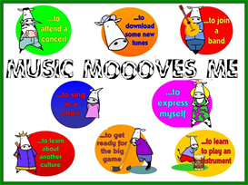 music moves me bulletin board kit