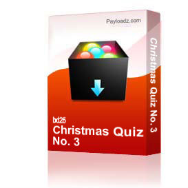 Christmas Quiz No. 3 | Other Files | Documents and Forms