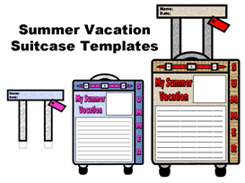 Summer Vacation Suitcase Templates | Other Files | Documents and Forms